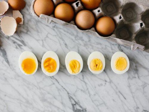 kokt ägg flyter
